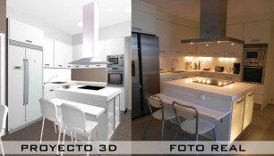 3D FOTO REAL cocina rato